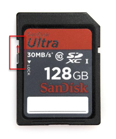 tarjeta de memoria bloqueada nikon